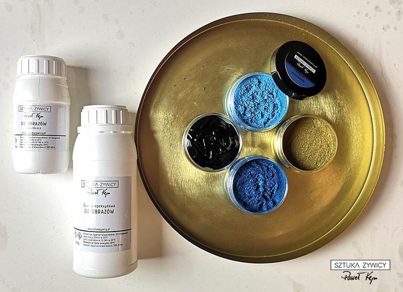 zywica pigmenty taca